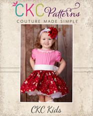 Frances' Pleated Dress Sizes NB to 8 Kids PDF Pattern