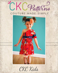 Winlee's One Shoulder Dress Sizes 2T to 14 Girls PDF Pattern