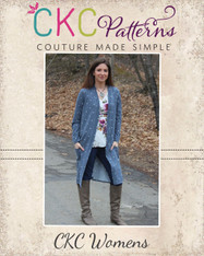 Calliope's Comfy Cardi Sizes XXS to 3X Women PDF Pattern