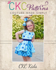 Lillian's Little Split Skirt Dress Sizes 2T to 14 Girls PDF Pattern