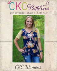 Chelsea's Crossover Hem Top Sizes XXS to 3X Women PDF Pattern