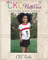 Panelyn's Ruched Ringer T-Shirt and Circle Skort Sizes 2T to 14 Girls PDF Pattern