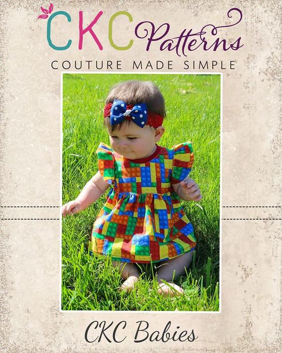 Mila's Baby Knit Flutter Top and Dress PDF Pattern