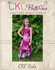 Holland's High-Low Dress Sizes 2T to 14 Girls PDF Pattern