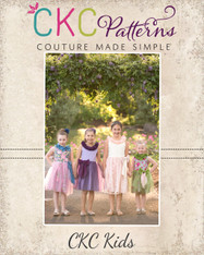 Laurie's Lovely Neck Dress Sizes 2T to 14 Girls PDF Pattern