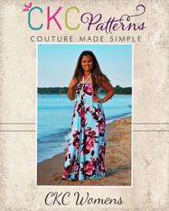 Malone's Halter Dress and Maxi Sizes XXS to 3X Adults PDF Pattern