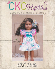 """Michelle's Dress and Top Sizes 15"""" and 18"""" Dolls PDF Pattern"""