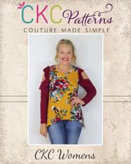Jayla's Cold Shoulder Tunic Sizes XXS to 3X Women PDF Pattern