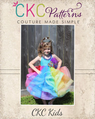 Brazil's Tulle Horse Hair Braid Dress sizes 12/18m to 14 Kids PDF Pattern
