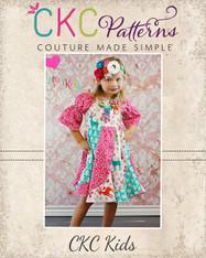 Violette's Swirly Peasant Dress Sizes NB to 8 Kids PDF Pattern