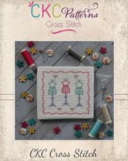"""Sewing  """"Dress Forms"""" Cross Stitch PDF Pattern"""