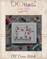 "Sewing  ""Sewing  Machine"" Cross Stitch PDF Pattern"