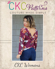 Veronica's Twisted Back Top Sizes XXS to 3X Women PDF Pattern