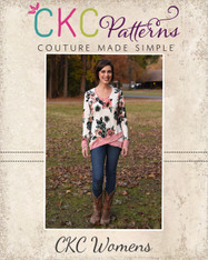 Hollis' Crossover Hem Top Sizes XXS to 3X Women PDF Pattern