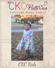 Timber's Turtleneck Dress Sizes 2T to 14 Kids PDF Pattern