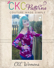 Ellis' Off The Shoulder Top Sizes XXS to 3X Women PDF Pattern