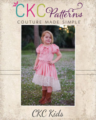 Oona's Keyhole Peasant Dress sizes 2T to 14 Girls PDF Pattern