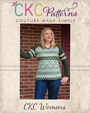 Rhonda's V-Neck Raglan Top and Dress Sizes XXS to 3X Adults PDF Pattern