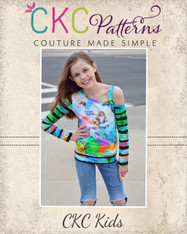 Ellis' Off the Shoulder Top Sizes 2T to 14 Girls PDF Pattern