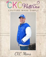 Brock's Letterman Jacket Sizes XXS to 4X Men PDF Pattern