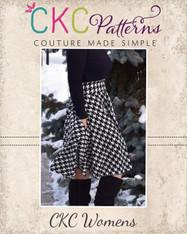 Duchess's Knit Circle Skirt Sizes XXS to 3X Women PDF Pattern