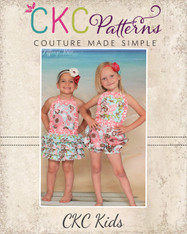 Zoe's Ruffled Sunsuit Sizes 6/12m to 8 Girls PDF Pattern