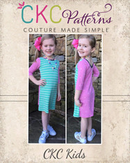Skylan's Knit Fitted Scoop Neck & Back Crop Top, Top and Dress Sizes 2T to 14 Girls PDF Pattern