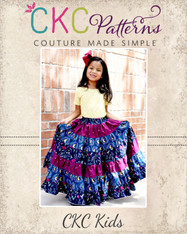 Prism Rainbow Skirt Sizes 2T to 14 Kids PDF Pattern