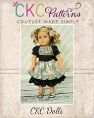 Elena's Twirly Peasant Dress Doll Size PDF Pattern