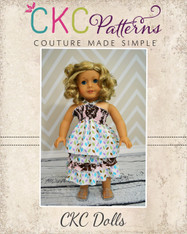 Ruby's Top & Izzy's Skirt Doll Size PDF Pattern