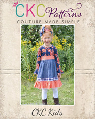 Cosette's Knit and Woven Dress Sizes NB to 15/16 Girls PDF Pattern
