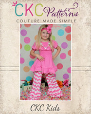 Jessica's Girls and Tween Knit Ruffle Pants and Capris PDF Pattern