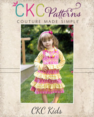 Allie's A-Line Knit Ruffle Dress Sizes 6/12m to 8 Girls PDF Pattern