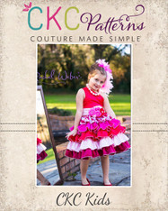 Francesca's Frilly Ruffle Dress Sizes NB to 8 Kids PDF Pattern