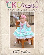 Primrose's Baby Ruffled Corset Princess Dress PDF Pattern