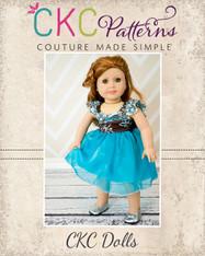 Bethany's Fancy Party Dress Doll Size PDF Pattern