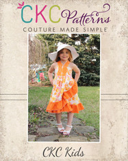 Monroe's Wrap Dress Sizes 6/12m to 8 Girls PDF Pattern