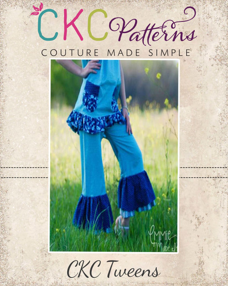 6897b5a8bf79d ... Nicolette s Tween Double Ruffle Pants and Capris PDF Pattern. Image 1