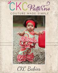 Kara's Baby Triple Ruffle Pants and Capris PDF Pattern