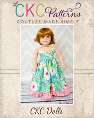 Ivy's Criss Cross Ruffle Top and Dress Doll Size PDF Pattern