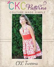 Lexie's Tween Retro Halter Dress PDF Pattern