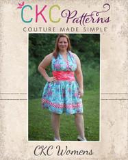 Lexie's Retro Halter Dress Sizes XS to 5X Women PDF Pattern
