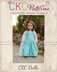 Elise's Everyday Princess Dress Doll Size PDF Pattern
