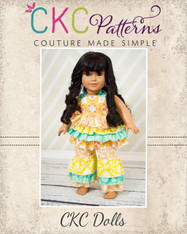 Kiki's Top & Kara's Pants Doll Size PDF Pattern