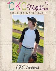 Brody's Tween Baseball Tee PDF Pattern