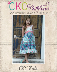 Dahlia's Double Flutter Pocket Top, Dress & Maxi Sizes NB to 15/16 Girls PDF Pattern