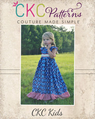 Adelaide's Ruffle Neck Top, Dress & Maxi Sizes 6/12m to 8 Kids PDF Pattern