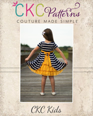 Jeanette's Ruffle Back Knit Dress PDF Pattern