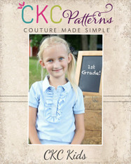 Brandi's Ruffled Polo Shirt Sizes 6/12m to 8 Girls PDF Pattern