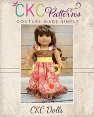 Dahlia's Double Flutter Pocket Top, Dress and Maxi Doll Size PDF Pattern